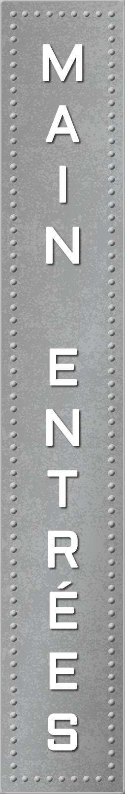 Main Entrées Grey Light Up Sign