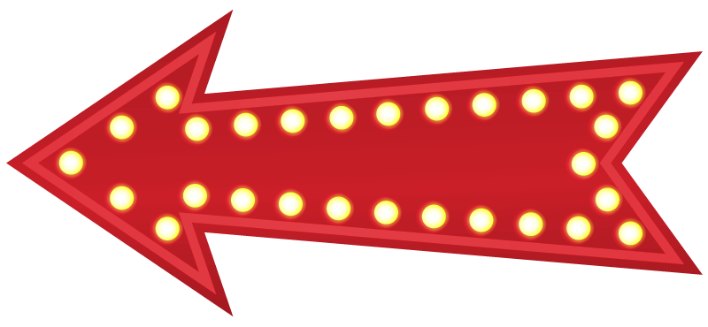 Lit up arrow pointing left